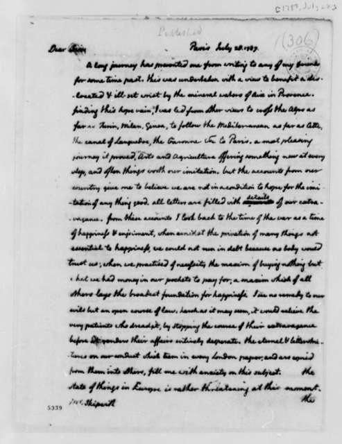 Thomas Jefferson to Henry Skipwith, July 28, 1787