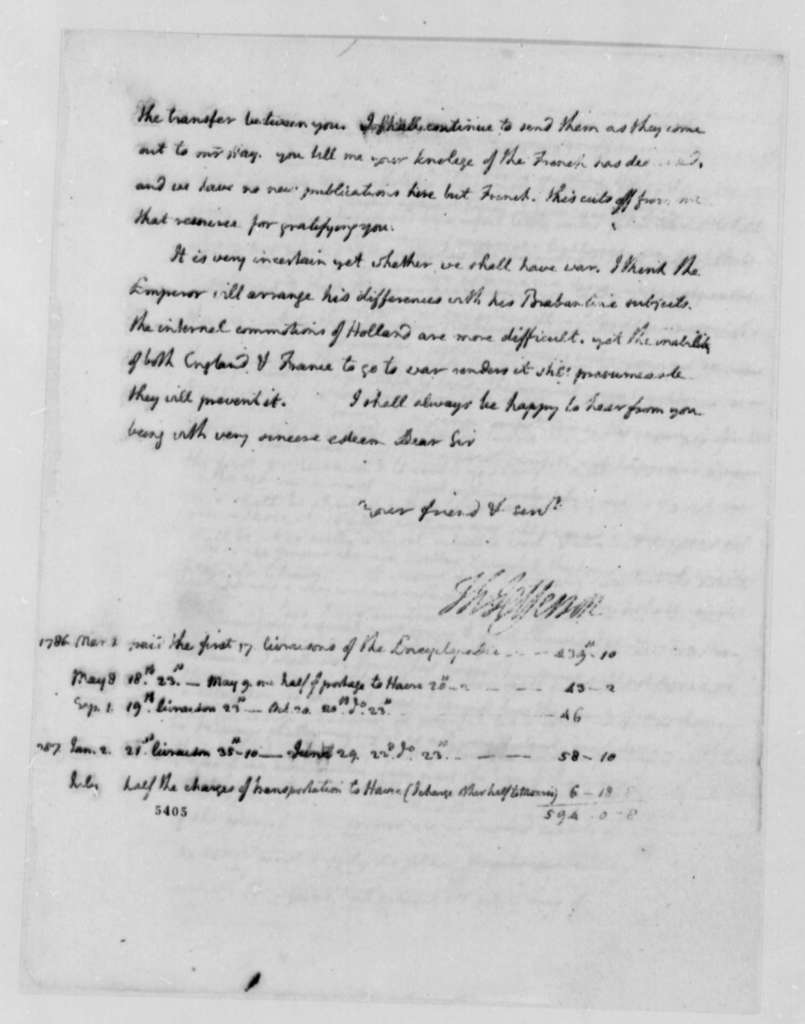 Thomas Jefferson to James Currie, August 4, 1787