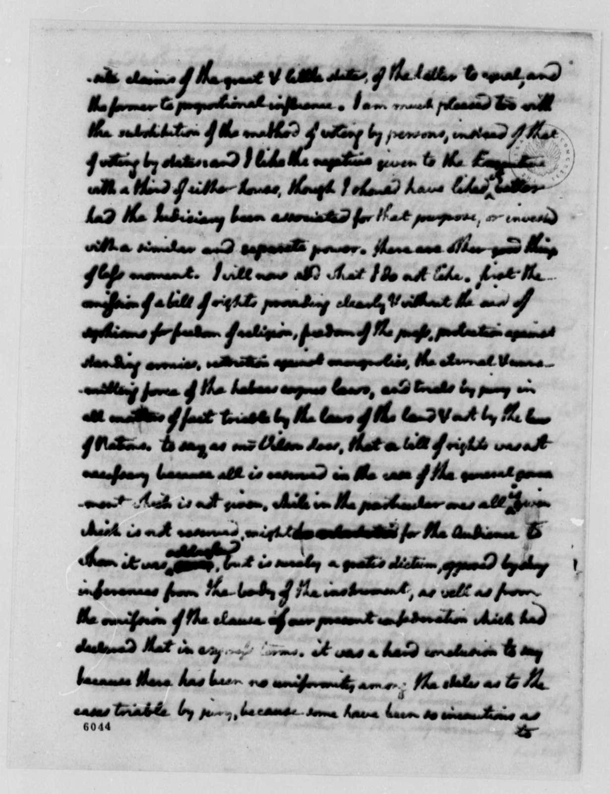 Thomas Jefferson to James Madison, December 20, 1787