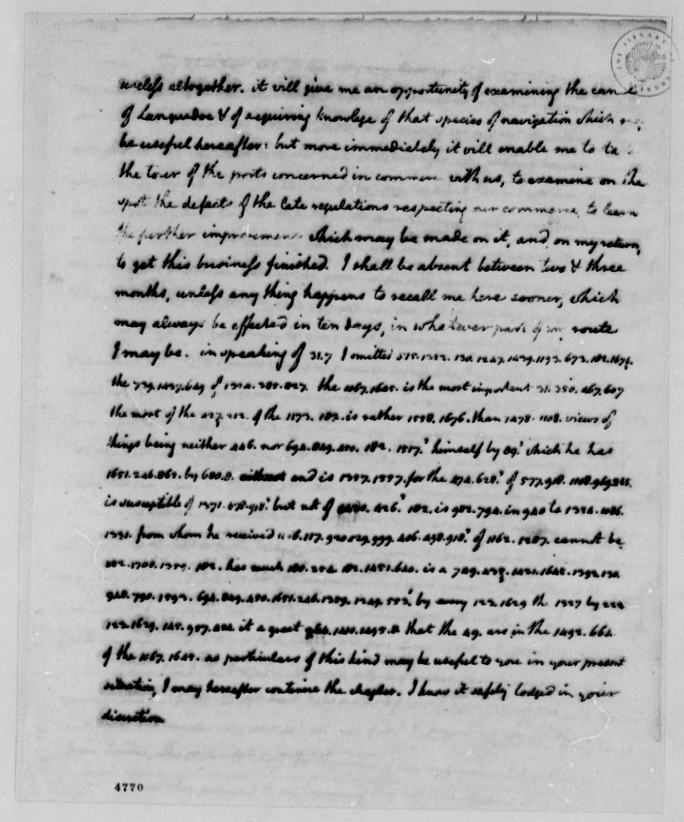 Thomas Jefferson to James Madison, January 30, 1787, with List of Decoded Passages