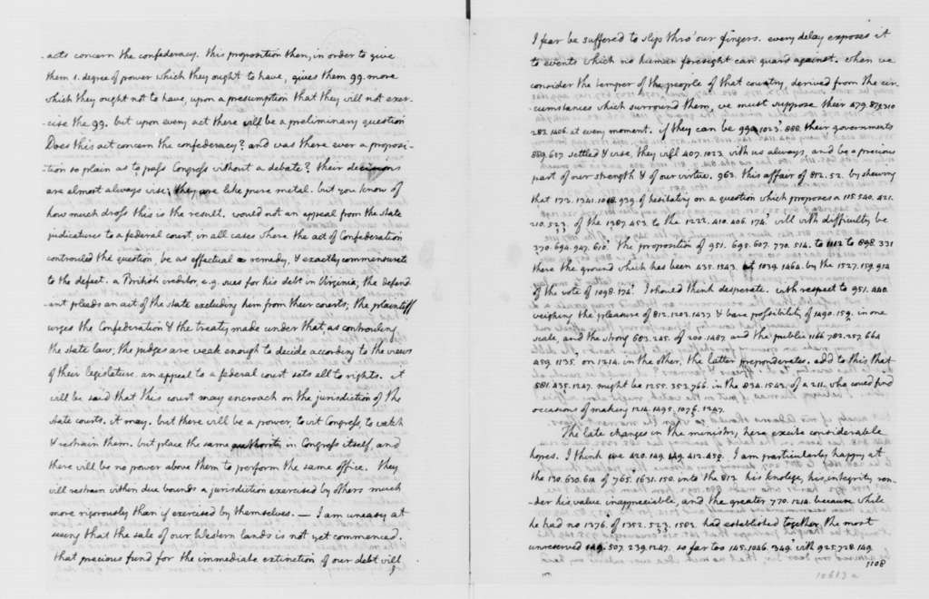 Thomas Jefferson to James Madison, June 20, 1787. Partly in Cipher.