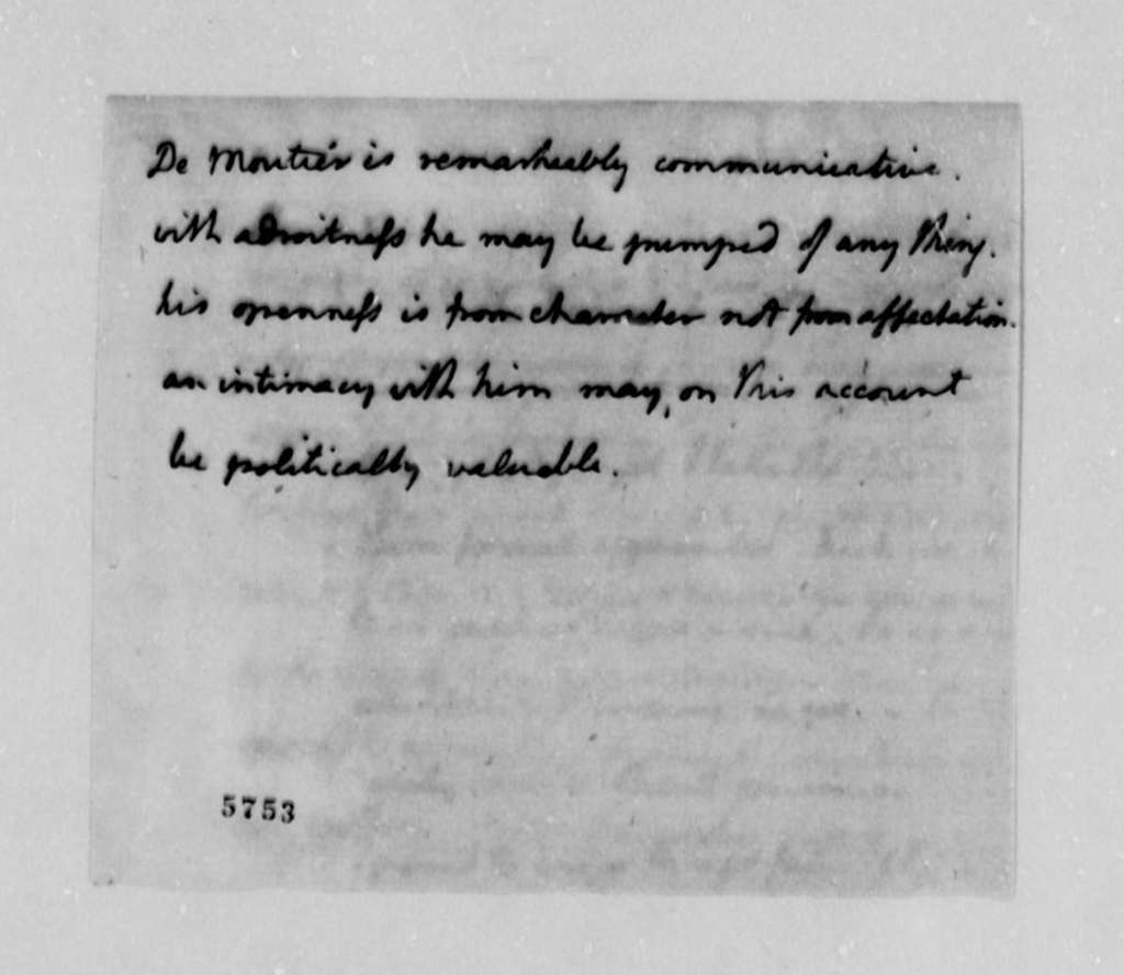 Thomas Jefferson to James Madison, October 8, 1787, with Decoded Passage