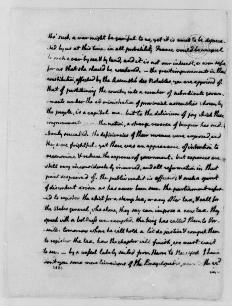 Thomas Jefferson to James Monroe, August 5, 1787