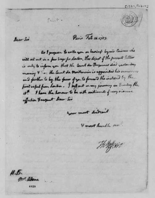 Thomas Jefferson to John Adams, February 14, 1787