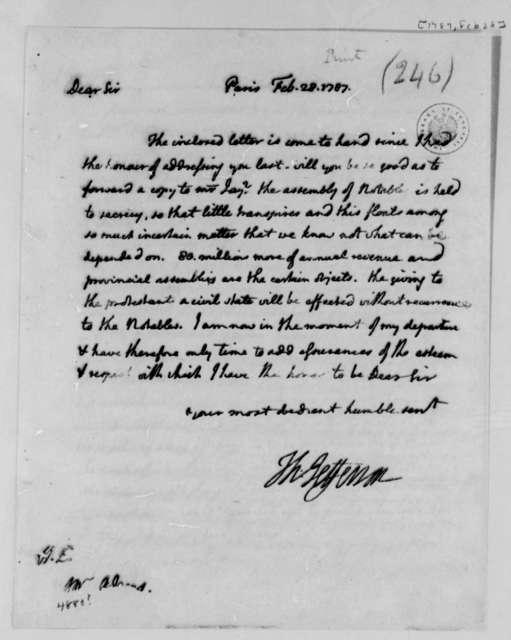 Thomas Jefferson to John Adams, February 28, 1787