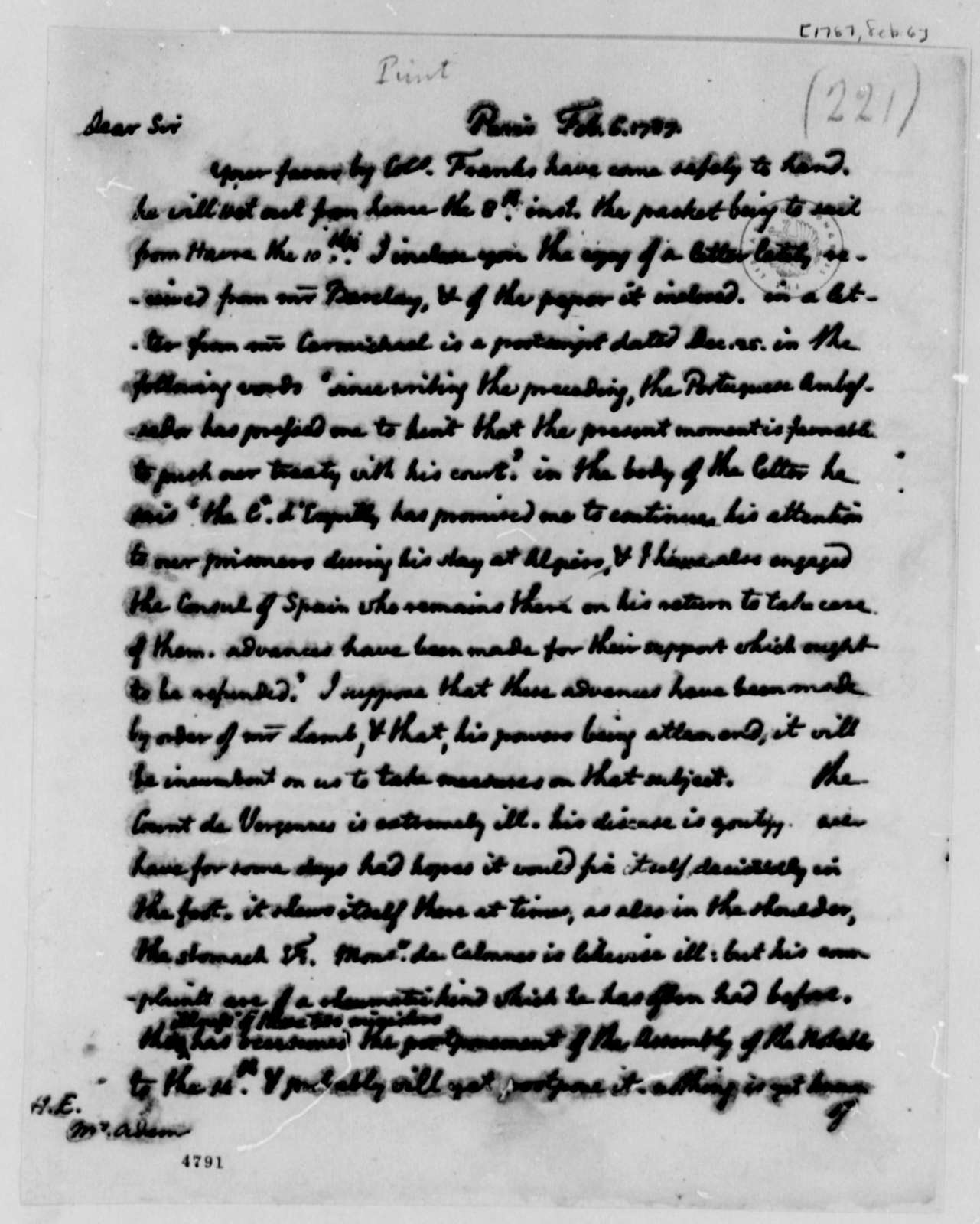 Thomas Jefferson to John Adams, February 6, 1787