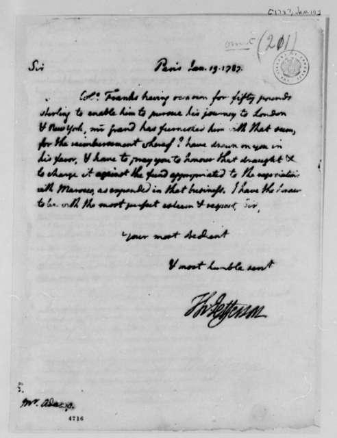 Thomas Jefferson to John Adams, January 19, 1787