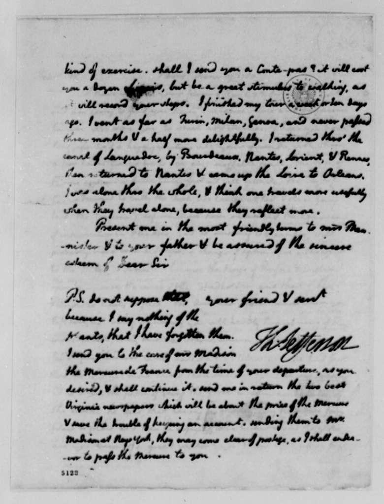 Thomas Jefferson to John Banister Jr., June 19, 1787