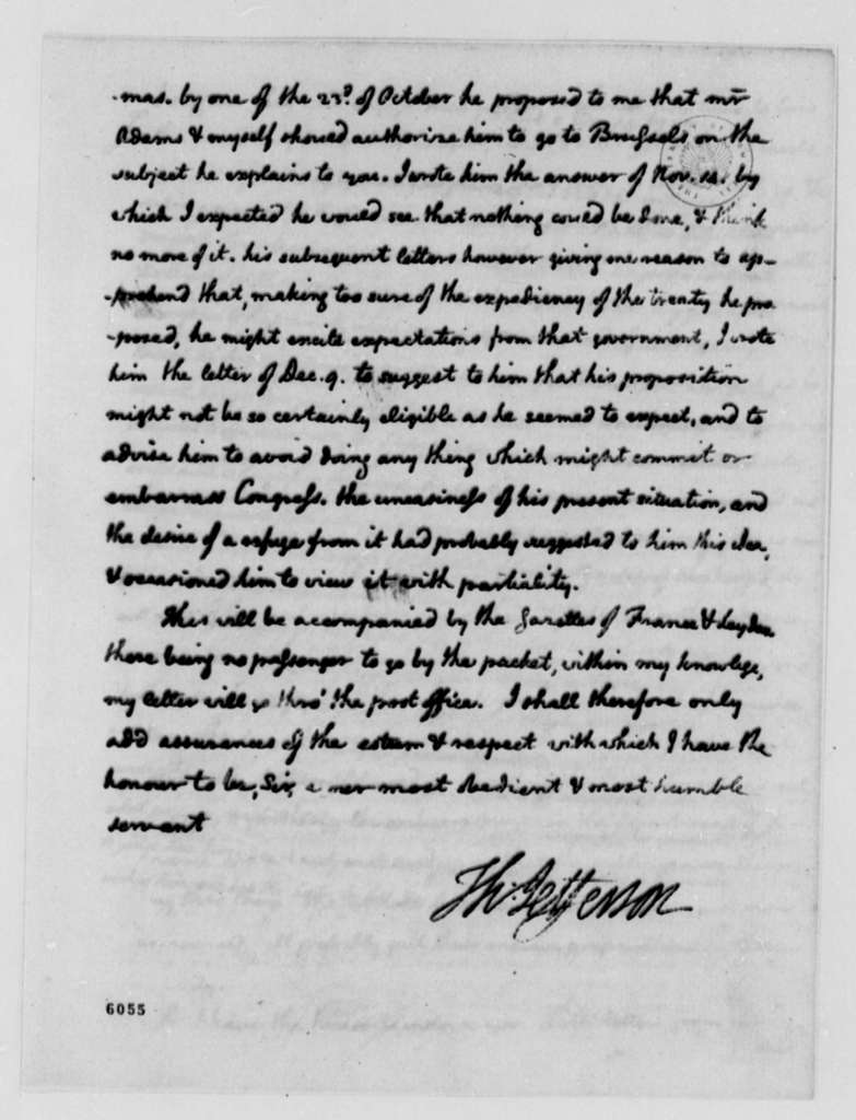 Thomas Jefferson to John Jay, December 21, 1787