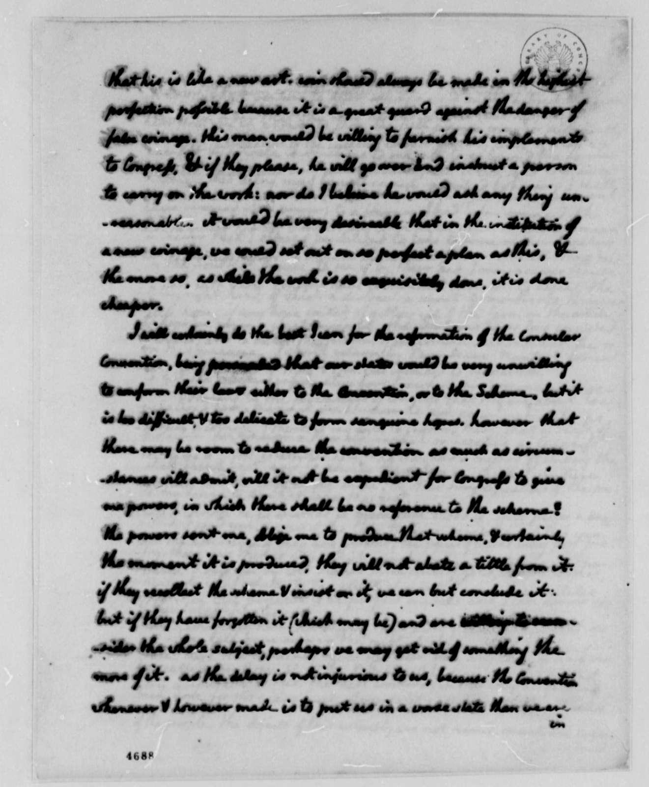 Thomas Jefferson to John Jay, January 9, 1787