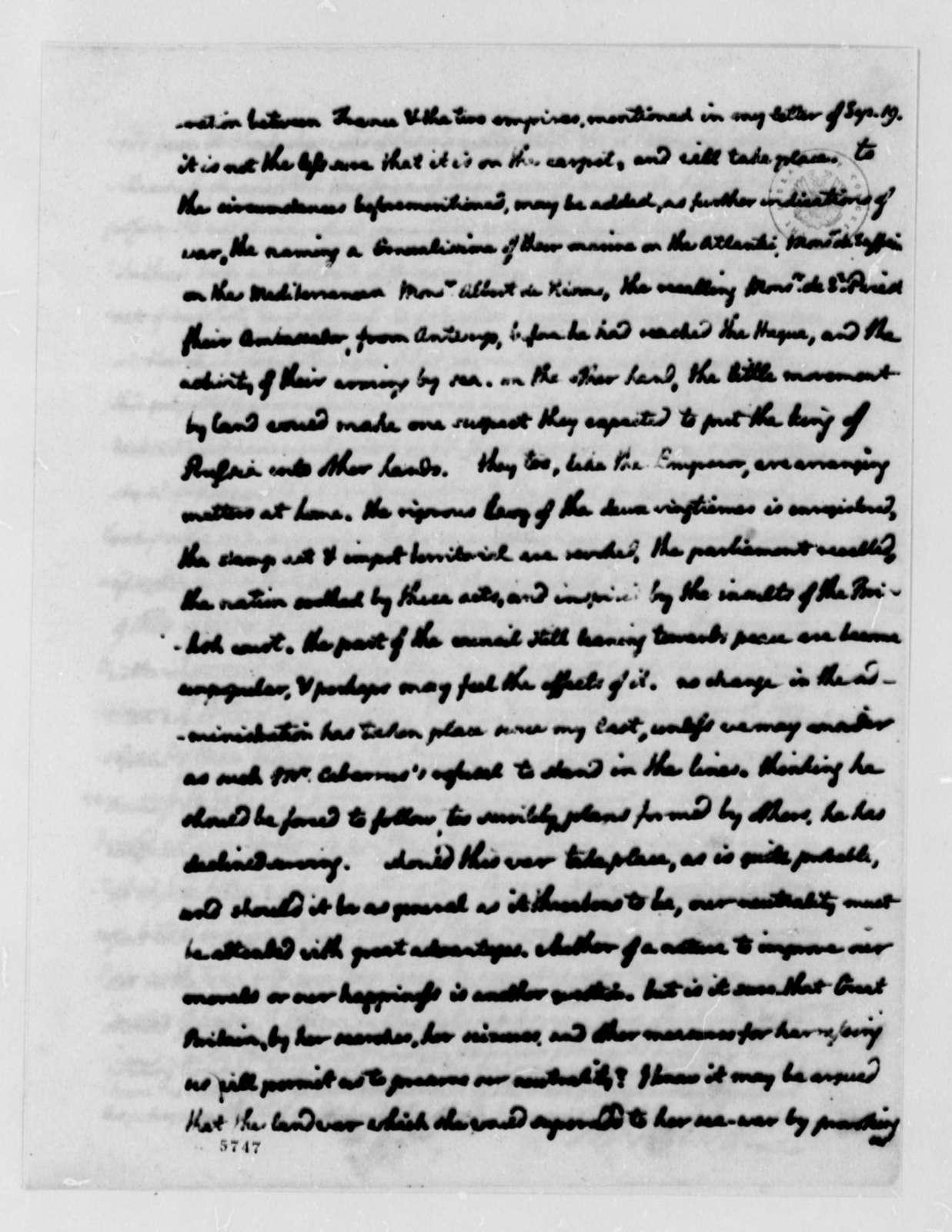 Thomas Jefferson to John Jay, October 8, 1787, two same date