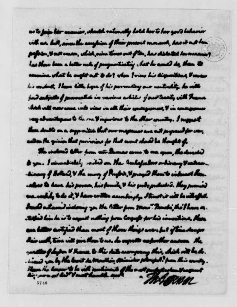 Thomas Jefferson to John Jay, October 8, 1787, two same date