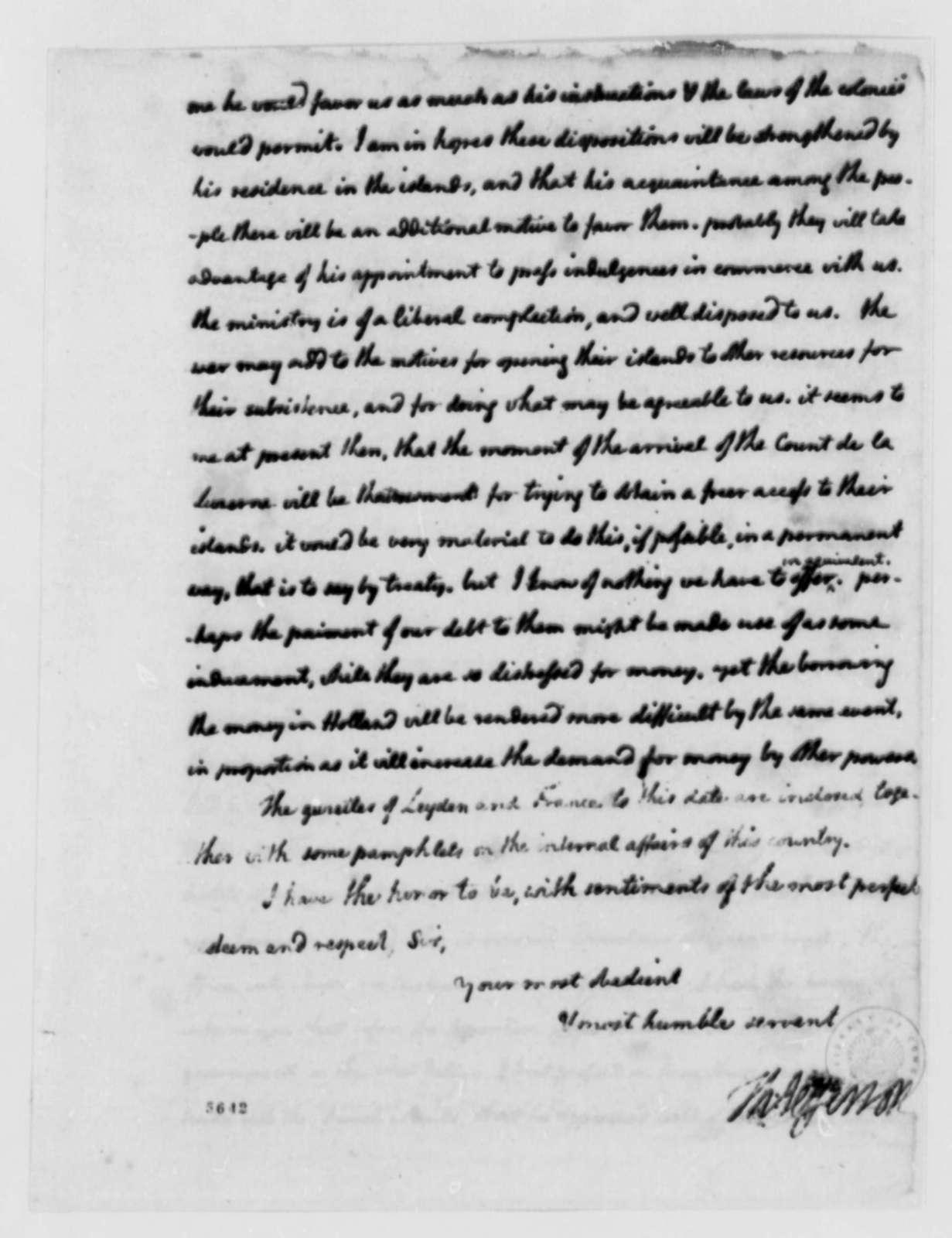 Thomas Jefferson to John Jay, September 19, 1787