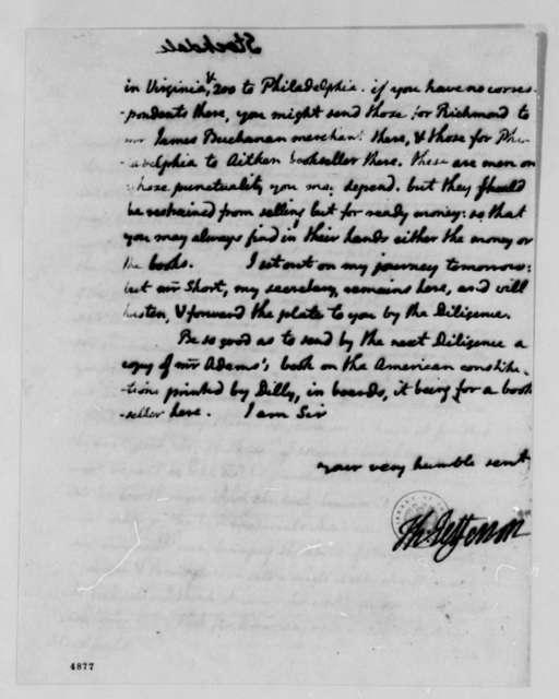 Thomas Jefferson to John Stockdale, February 27, 1787