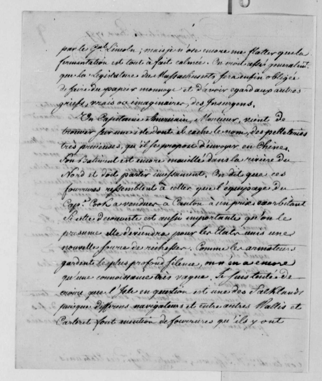 Thomas Jefferson to Louis Guillaume Otto, February 14, 1787