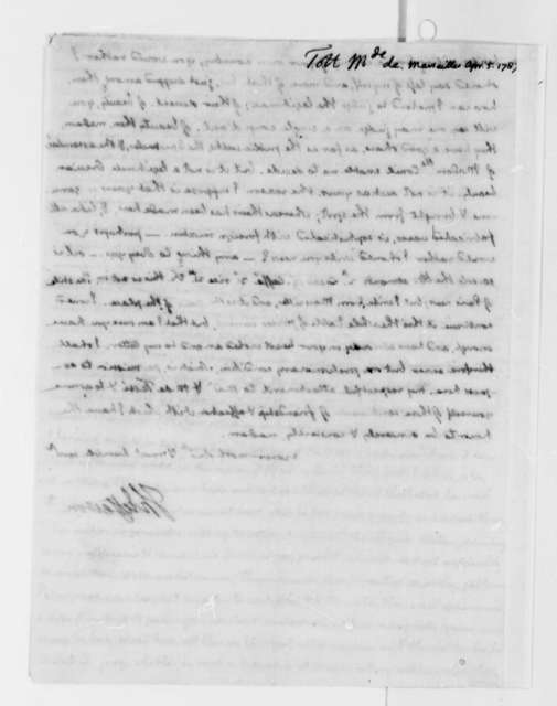 Thomas Jefferson to Madame de Tott, April 5, 1787