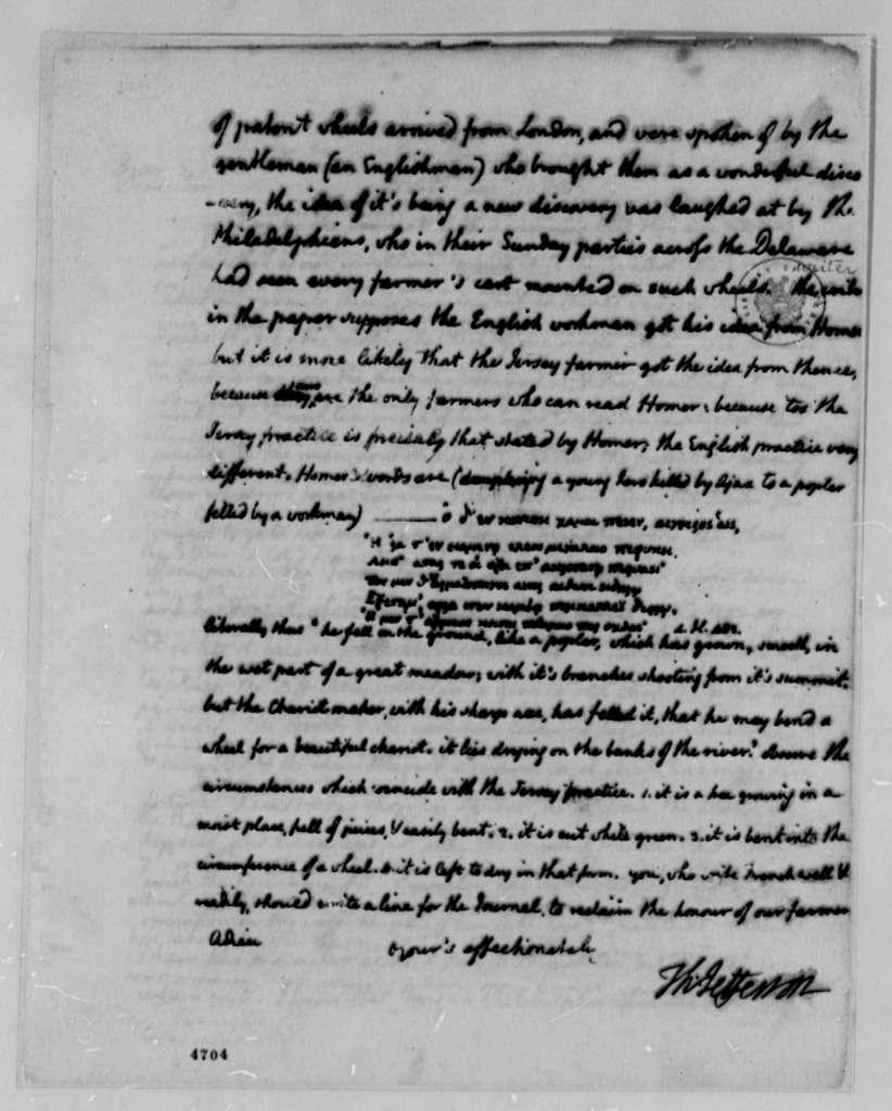 Thomas Jefferson to Michel Guillaume Jean de Crevecoeur (John Hector St. John), January 15, 1787