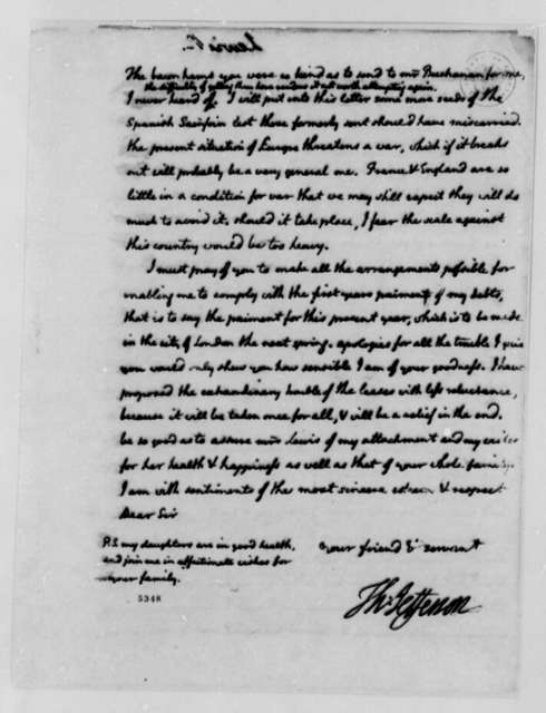 Thomas Jefferson to Nicholas Lewis, July 29, 1787