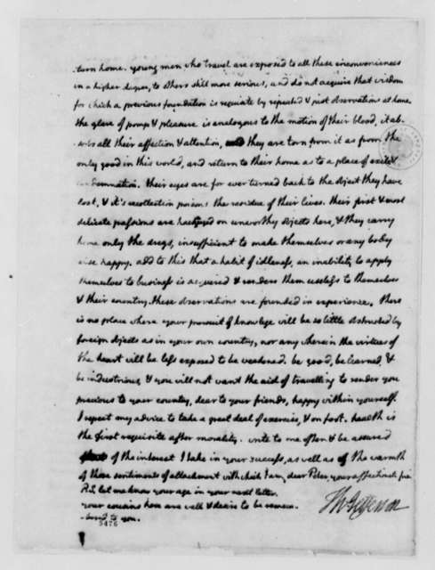 Thomas Jefferson to Peter Carr, August 10, 1787