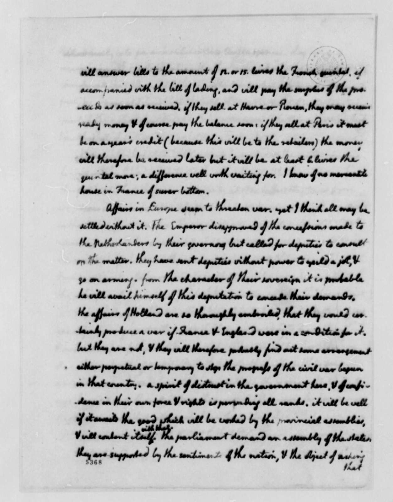 Thomas Jefferson to Ralph Izard, August 1, 1787