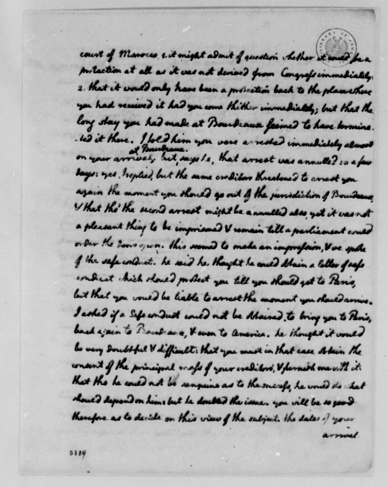 Thomas Jefferson to Thomas Barclay, June 19, 1787