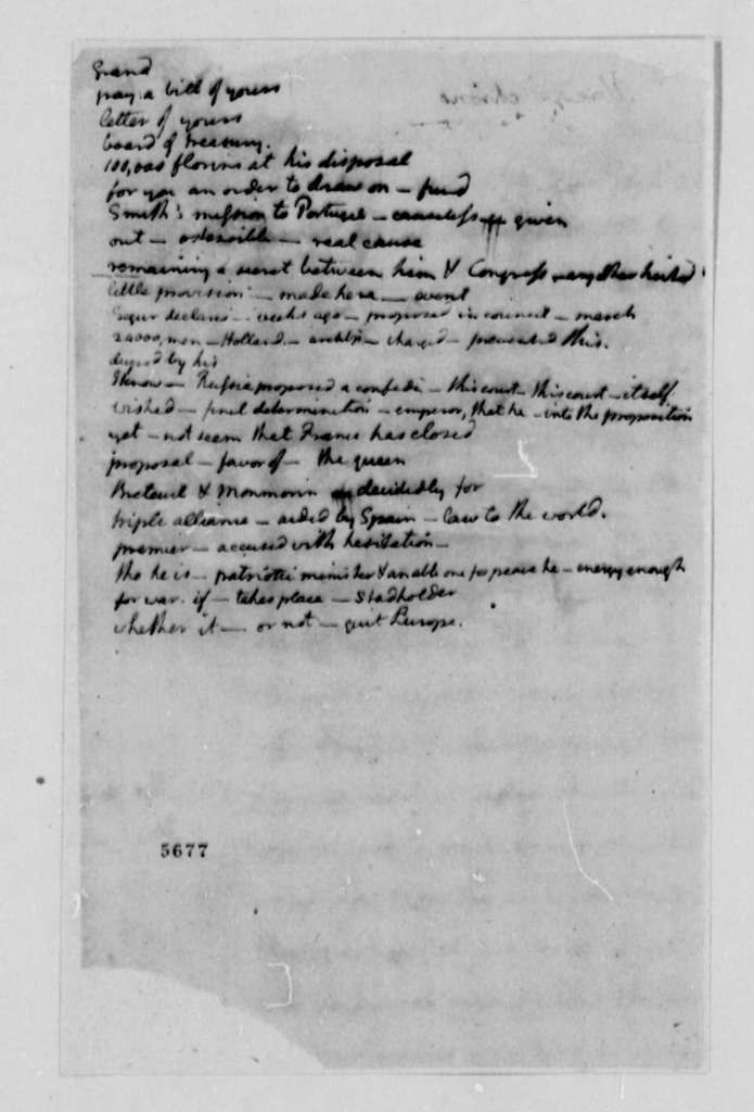 Thomas Jefferson to William Carmichael, September 25, 1787, with List of Decoded Passages
