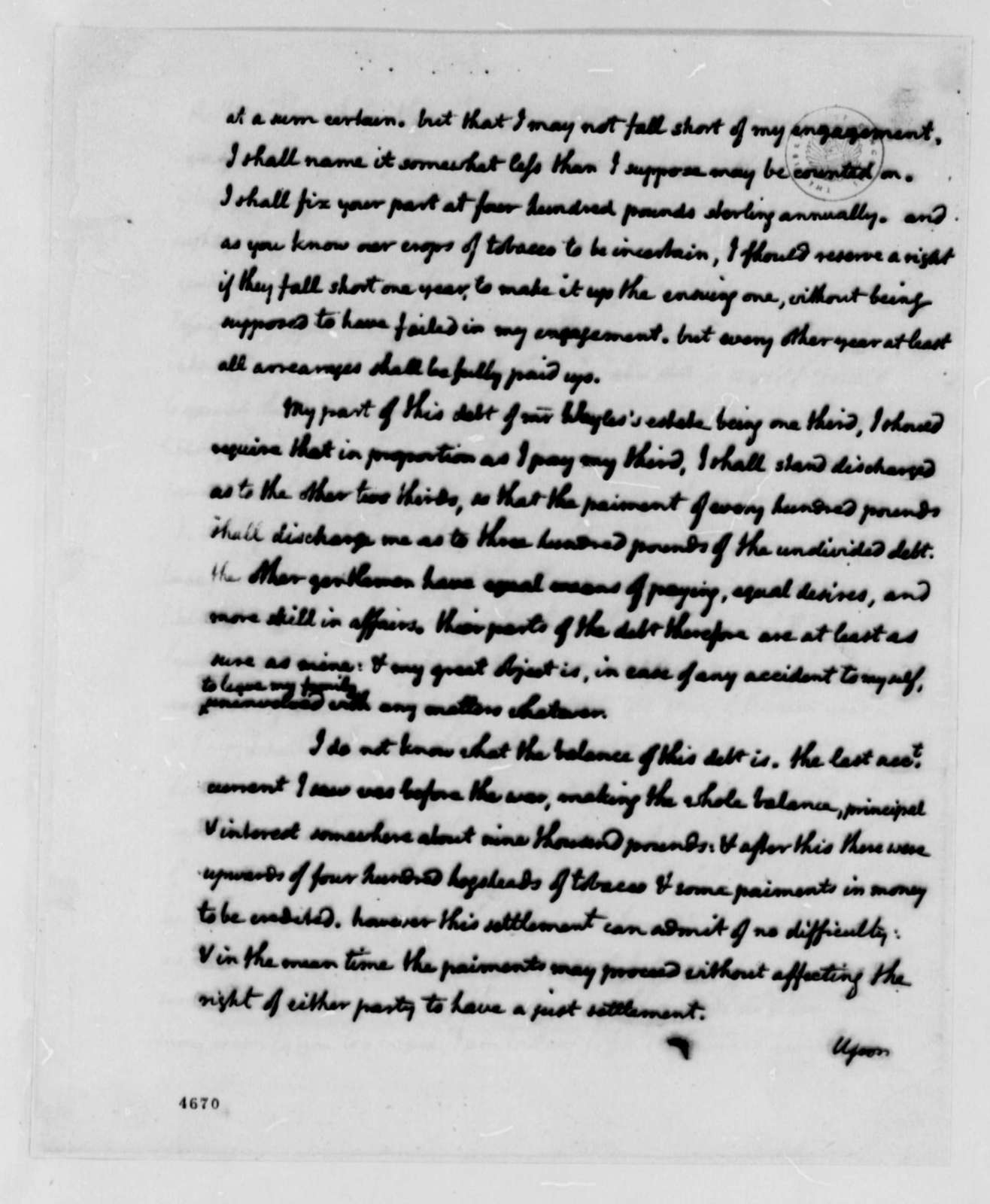 Thomas Jefferson to William Jones, January 5, 1787