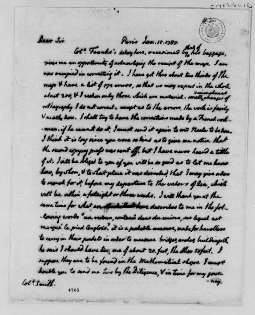 Thomas Jefferson to William S. Smith, January 15, 1787