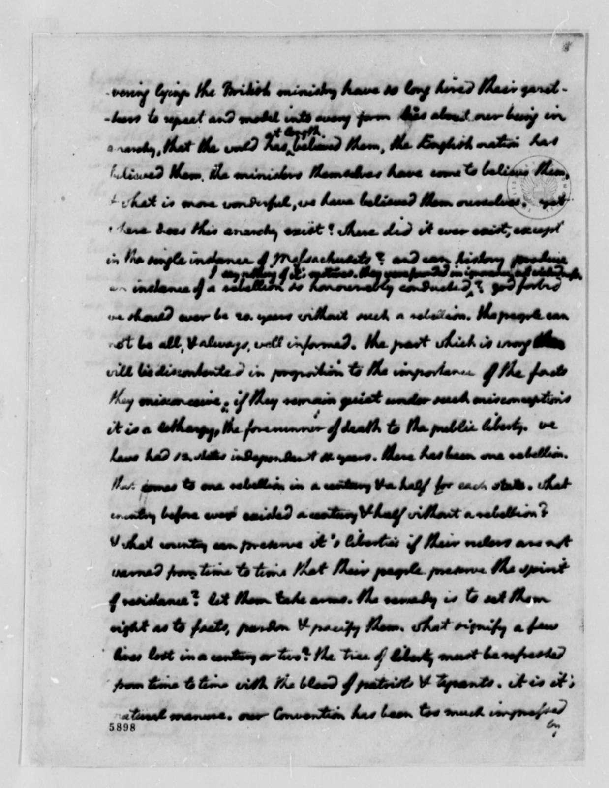 Thomas Jefferson to William S. Smith, November 13, 1787