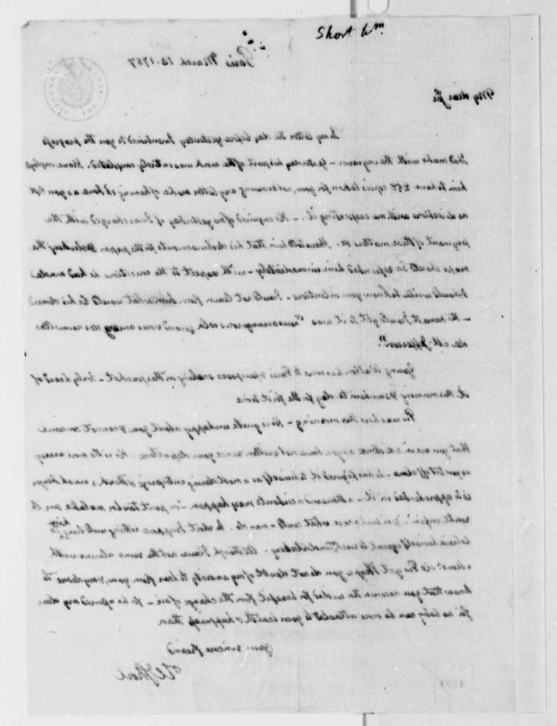 Thomas Jefferson to William Short, March 15, 1787