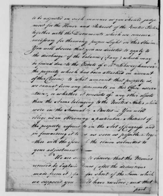 Treasury Board to Thomas Jefferson, February 16, 1787