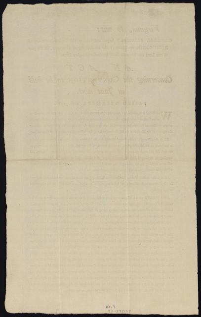 Virginia, to wit: General Assembly begun and held at the Capitol in the city of Richmond, on Monday the fifteenth day of October, in the year of our Lord one thousand seven hundred and eighty seven : An act concerning the convention to be held in June next. Passed December 12th, 1787.