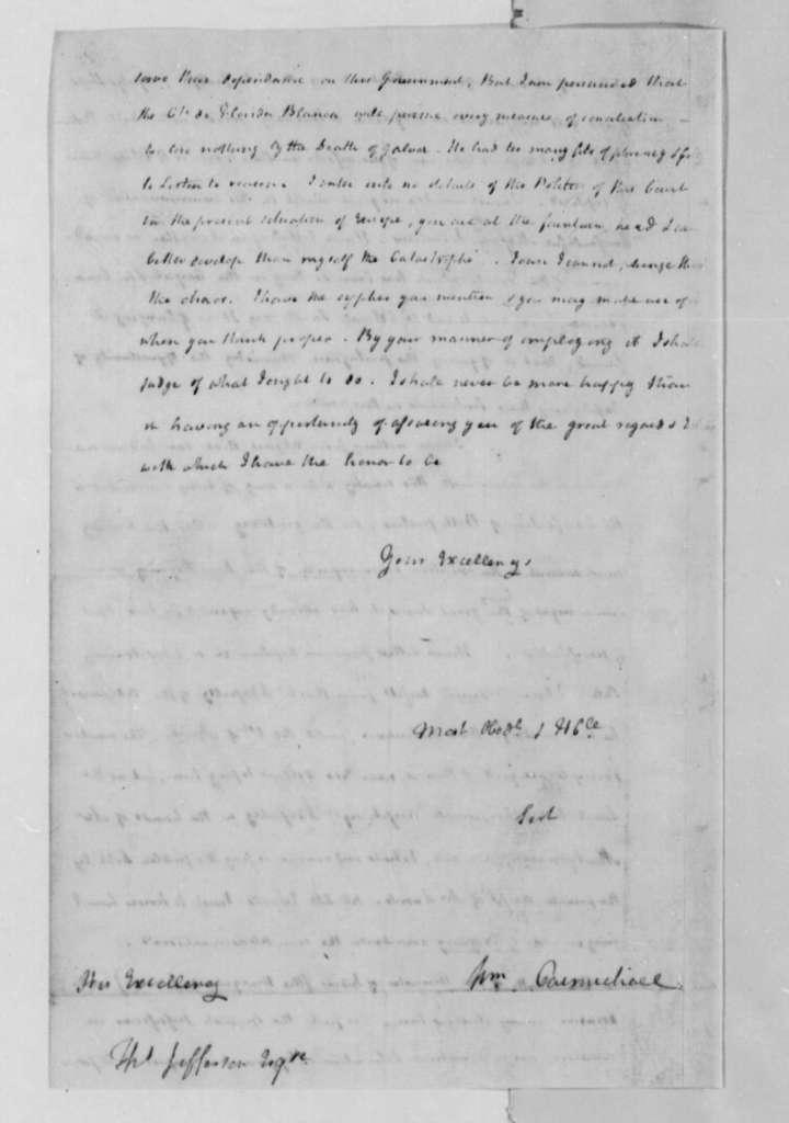 William Carmichael to Thomas Jefferson, July 9, 1787