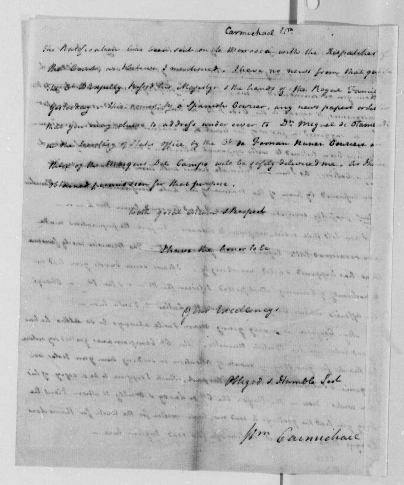 William Carmichael to Thomas Jefferson, November 14, 1787