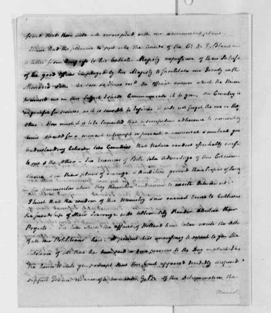 William Carmichael to Thomas Jefferson, October 15, 1787