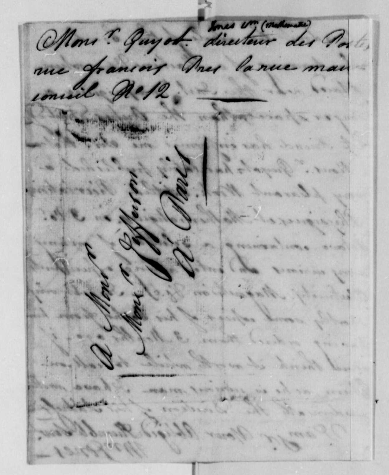 William Jones to Thomas Jefferson, January 22, 1787
