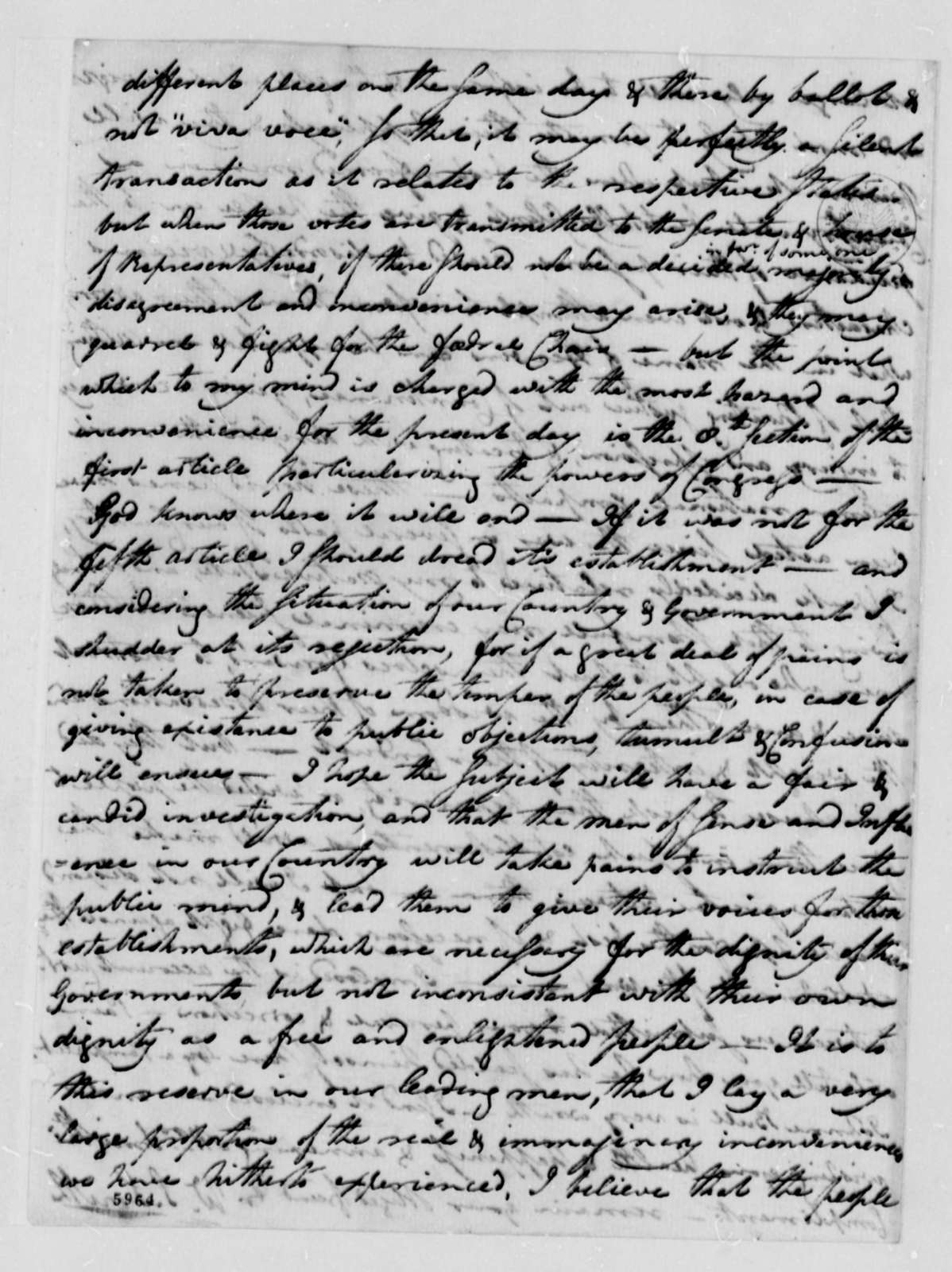 William S. Smith to Thomas Jefferson, December 3, 1787