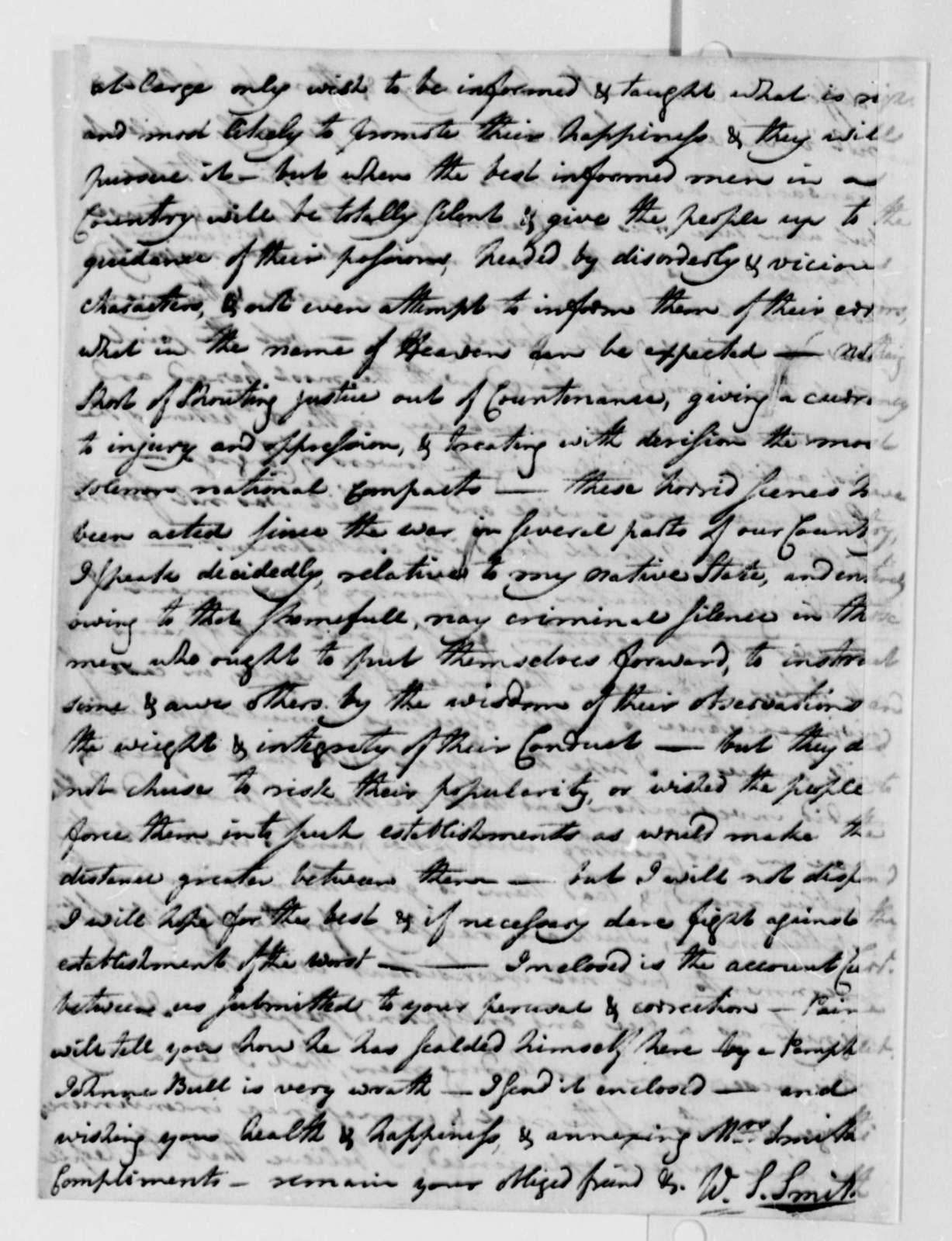 William S. Smith to Thomas Jefferson, December 3, 1787