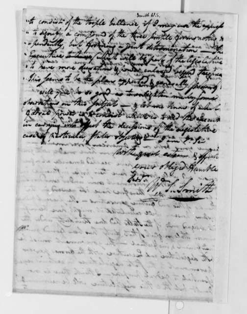 William S. Smith to Thomas Jefferson, October 4, 1787