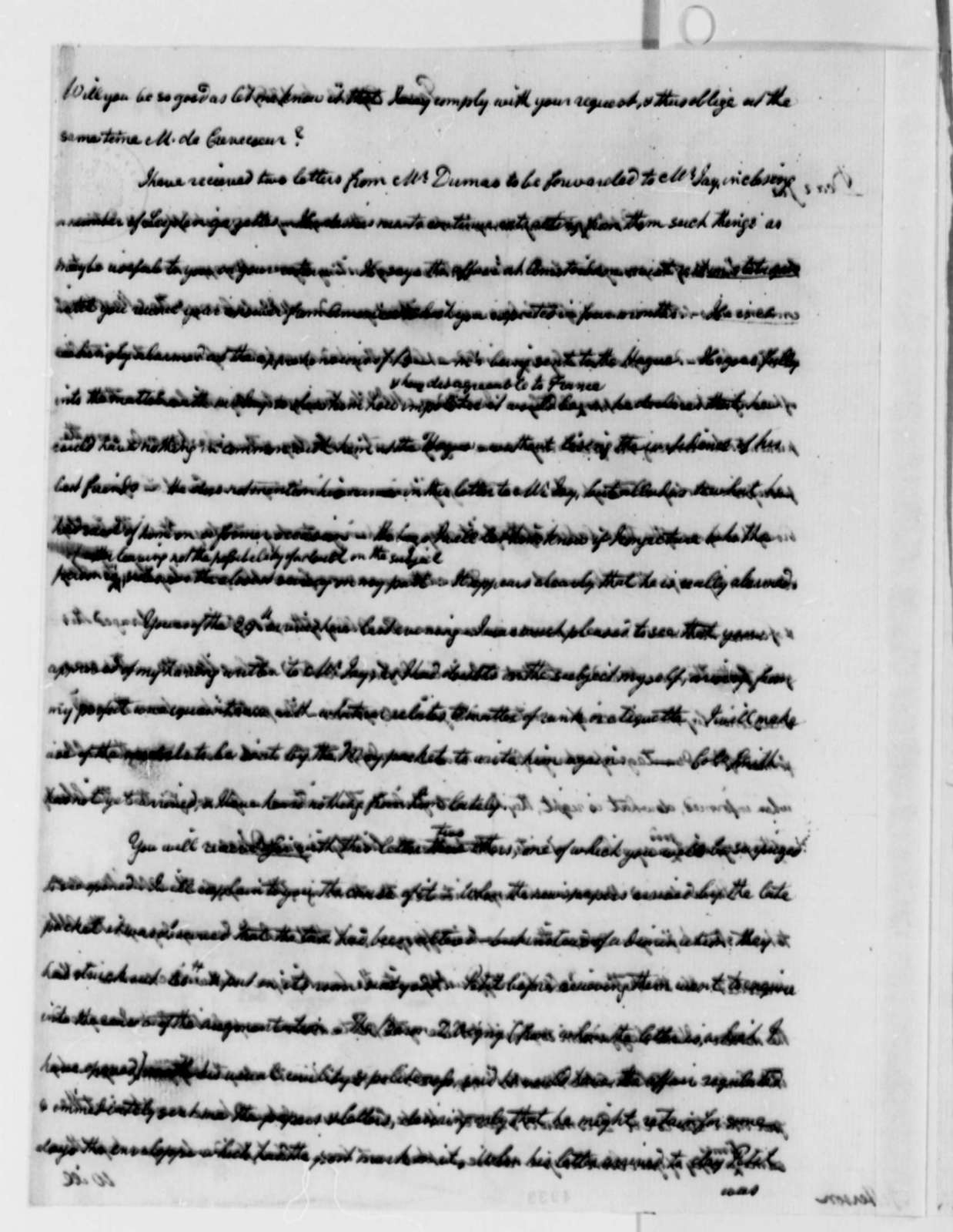 William Short to Thomas Jefferson, April 6, 1787