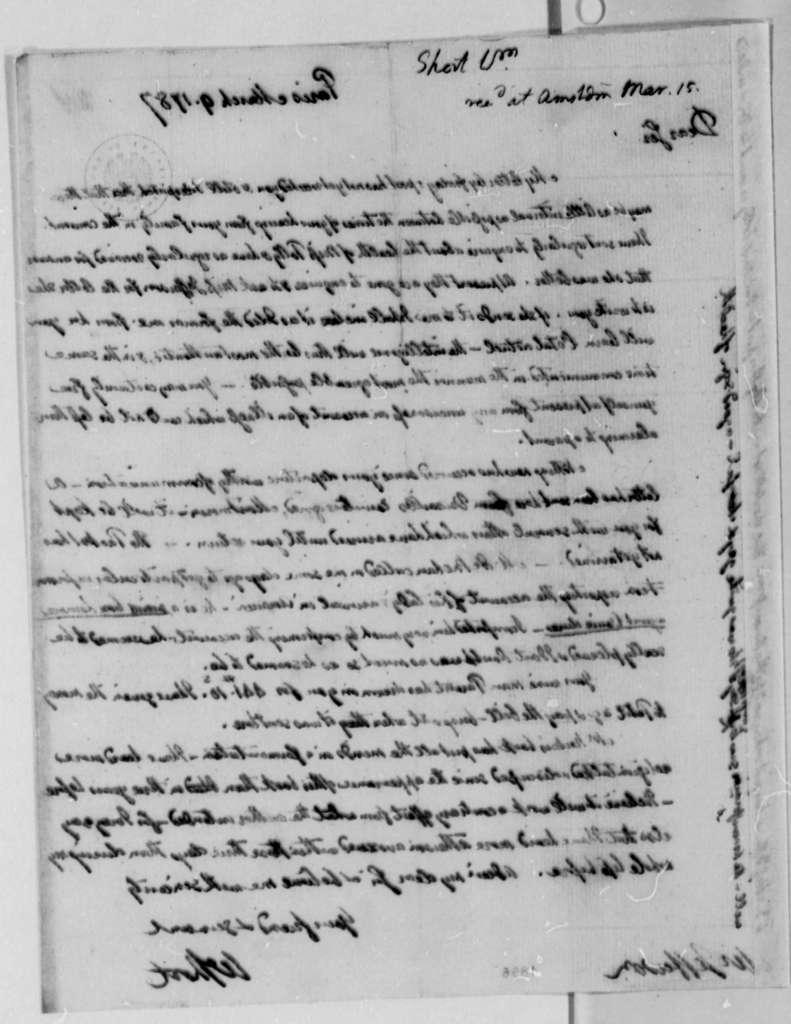 William Short to Thomas Jefferson, March 9, 1787