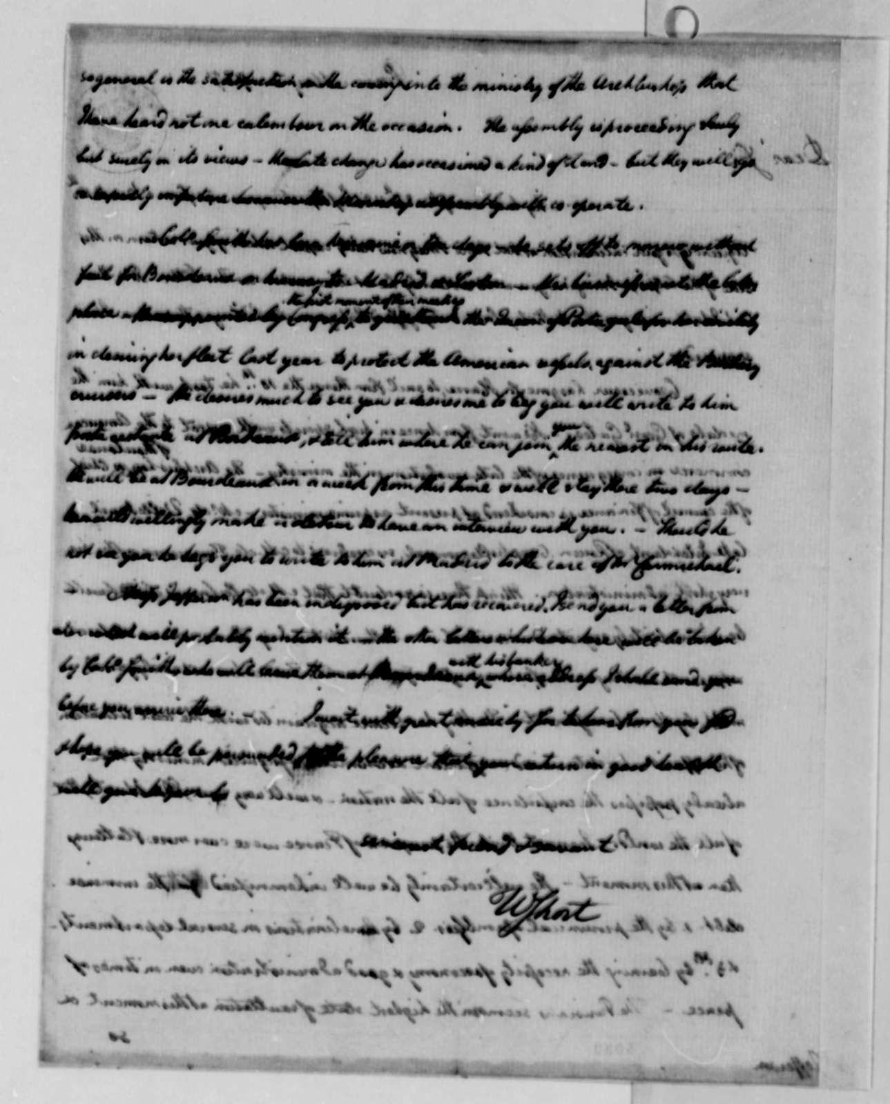 William Short to Thomas Jefferson, May 8, 1787