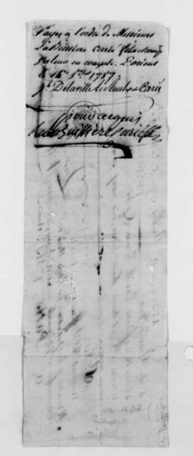 Wilt, Delmestre & Company, July 9, 1787, Bank Draft for Coffee Shipment Ordered by Thomas Jefferson