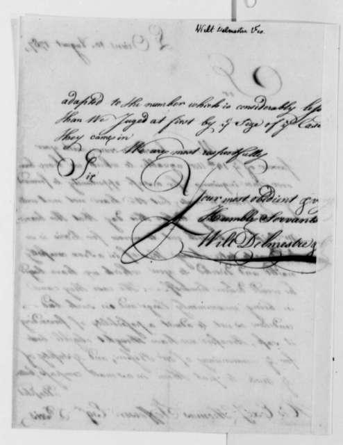 Wilt, Delmestre & Company to Thomas Jefferson, August 10, 1787
