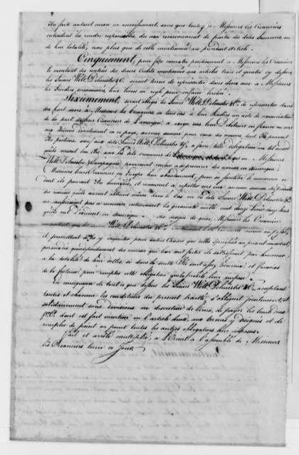 Wilt, Delmestre & Company to Thomas Jefferson, October 1, 1787, Bond; in French