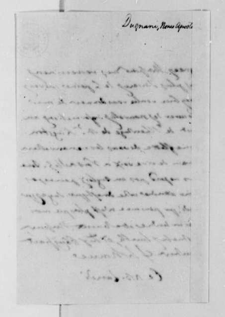 Antonio Dugnani to Thomas Jefferson, July 13, 1788, in French
