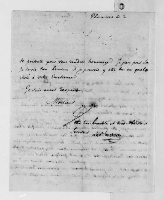 C. P. C. La Blancherie to Thomas Jefferson, April 29, 1788, in French