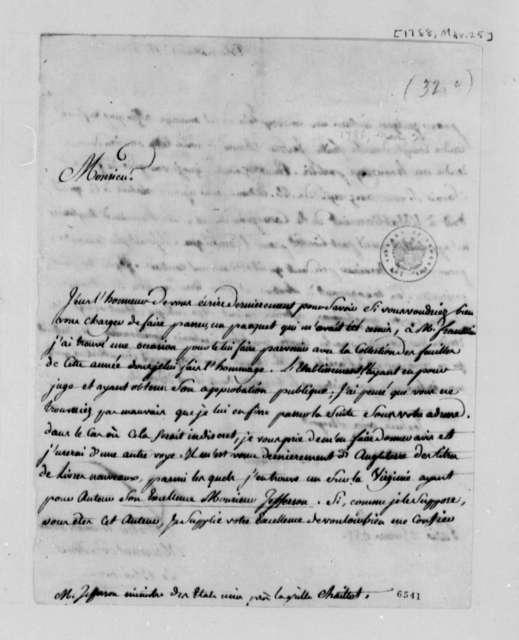 C. P. C. La Blancherie to Thomas Jefferson, March 25, 1788