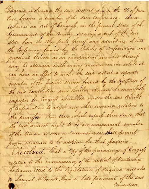Congressional resolution