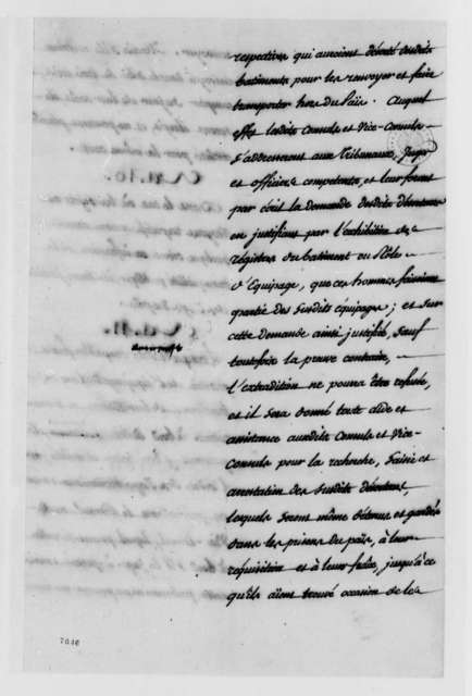 Consular Convention Between the United States and France, 1788, French Text of 1788 Consular Convention
